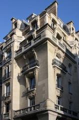 Immeuble (Siège de la Semeuse de Paris) - Deutsch: Ehemaliges Gebäude von La Semeuse de Paris, 16, rue du Louvre/rue Bailleul im 1. Arrondissement von Paris, 1912 von dem Architekten Frantz Jourdain für Ernest Cognacq errichtet
