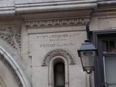 Immeuble -  Apartment building 61-63 rue Réaumur (Paris), built in 1898. Name of the sculptors Pierre François