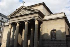 Église Saint-Denis-du-Saint-Sacrement -  katholische Pfarrkirche Saint-Denys-du-Saint-Sacrement in Paris (3. Arrondissement), Eingangsfassade zur Rue Turenne