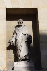 Église Saint-Denis-du-Saint-Sacrement -  katholische Pfarrkirche Saint-Denys-du-Saint-Sacrement in Paris (3. Arrondissement), Statue des Apostels Petrus