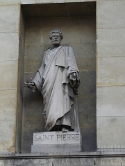 Église Saint-Denis-du-Saint-Sacrement -  Eglise Saint-Denys-du-Saint-Sacrement, rue de Turenne in Paris- Statue of Saint-Pierre