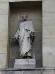 Église Saint-Denis-du-Saint-Sacrement -  Eglise Saint-Denys-du-Saint-Sacrement, rue de Turenne in Paris- Statue of Saint-Pierre