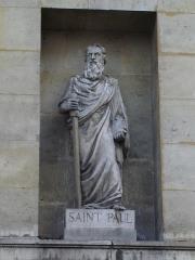Église Saint-Denis-du-Saint-Sacrement -  Eglise Saint-Denys-du-Saint-Sacrement, rue de Turenne in Paris- Statue of Saint-Paul