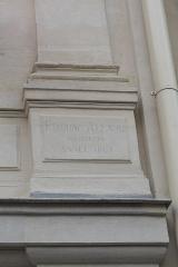 Hôtel et usine de la Société des Cendres - Deutsch: Ehemaliges Gebäude der Société des Cendres in der Rue des Francs-Bourgeois Nr. 39 im 4. Arrondissement in Paris, in dem seit 2014 ein Modegeschäft eingerichtet ist; Inschrift mit dem Namen des Architekten: EDMOND ALLARD ARCHITECTE ANNEE 1867