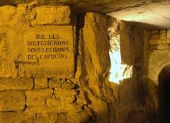 Carrière des Capucins -  Rue des Bourguignons (Boulevard de Port-Royal). Carrières des Capucins, Paris