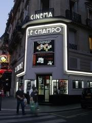 Cinéma Le Champollion - English: Quartier Latin, July 2006.