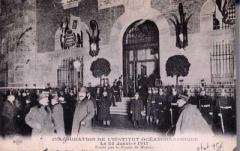 Institut océanographique -  Inauguration of the Institut oceanographique of Paris in 1911