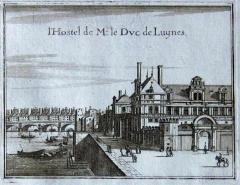 Ancien hôtel Séguier, devenu hôtel d'O, puis hôtel de Luynes - English: Drawing of the old Hôtel of the Duke of Luynes itself the old Hôtel d'Etampes