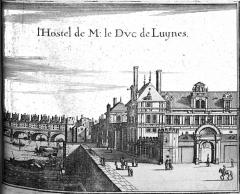 Ancien hôtel Séguier, devenu hôtel d'O, puis hôtel de Luynes - Français:   image provenant de Topographiae Galliae.