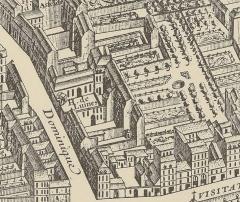 Ancien hôtel Séguier, devenu hôtel d'O, puis hôtel de Luynes - Détail du plan de Paris de Turgot montrant l'hôtel de Luynes.