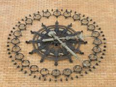 Central téléphonique et Poste -  Horlogue publique murale, Central téléphonique Provence, Paris