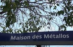 """Ancienne fabrique d'instruments de musique """" Gautrot-Couesnon """", actuellement immeuble de l'Union Fraternelle des Métallurgistes -  Paris quartier Oberkampf"""
