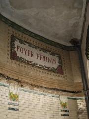 Palais de la Femme -  Palais de la Femme, an hotel for women of the Salvation Army. General view. Address: 84 rue de Charonne; Paris 11. France. Ceramics decoration mentioning \