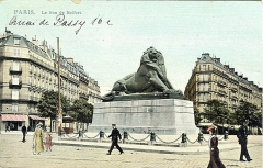 Monument du Lion de Belfort - English: Postcard, dated 20.5.1909. Title: