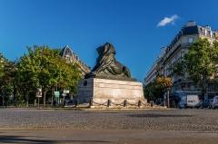 Monument du Lion de Belfort -  Le Lion de Belfort, place Denfert-Rochereau, Paris.