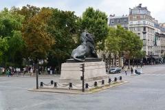Monument du Lion de Belfort -  Lion de Belfort, Place Denfert-Rochereau, Paris.