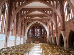 Couvent de franciscains dit Saint-François - Français:   Vue de l\'intérieur de la chapelle du couvent des Franciscains de Paris, rue Marie-Rose (XIVe arrondissement).