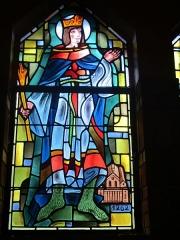 Couvent de franciscains dit Saint-François - Français:   Vitrail représentant saint Louis dans la chapelle Saint-Louis de la chapelle des Franciscains de Paris.