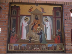 Couvent de franciscains dit Saint-François - Français:   Tableau d\'autel représentant Saint Louis, dans la chapelle du même nom de la chapelle des Franciscains de Paris.