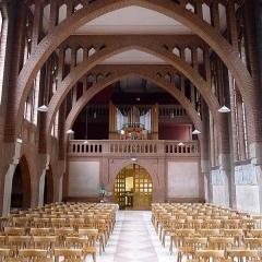Couvent de franciscains dit Saint-François - Français:   Chapelle des Franciscains (nef et orgue) - Paris XIV