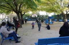 Square Saint-Lambert - Français:   vert et bleu