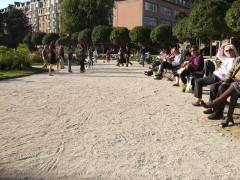 Square Saint-Lambert - Français:   bac-à-sable pour grandes personnes