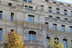 Ancien hôtel particulier de Roland Bonaparte -   (Chaillot) Avenue d\'Iéna Since 2010, the building is a new luxurious hotel housed in a former mansion built for Prince Roland Bonaparte. Arch. Ernest Janty 1892-99. This was hugely remodeled. Arch. Michel Roux-Spitz 1929. And then, transformed into the Shangri-La luxurious hotel. Arch. Richard Martinet  2008-10.