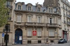 Immeuble, ancien hôtel particulier, actuelle bibliothèque de l'Institut Cervantès - Français:   Institut Cervantes, 11 avenue Marceau (Paris 16).