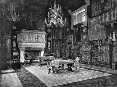 Ancien hôtel Gaillard, actuellement succursale de la Banque de France -  Grand salon de l'Hôtel Gaillard, situé Place du Général Catroux, à Paris.