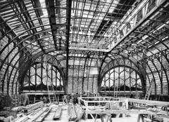 Ancien hôtel Gaillard, actuellement succursale de la Banque de France -  Travaux grand hall - Grand lobby works - 1921 - (1) Construction par l'architecte Alphonse Defrasse.