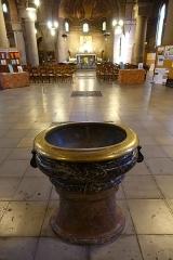 Eglise Saint-Michel dite des Batignolles -  Baptismal font @ Église Saint-Michel des Batignolles @ Paris   Église Saint-Michel des Batignolles, 3 Place Saint-Jean, 75017 Paris, France.