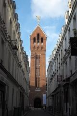 Eglise Saint-Michel dite des Batignolles - Deutsch: Katholische Pfarrkirche Saint-Michel des Batignolles im 17. Arrondissement in Paris (Île-de-France/Frankreich), Turm