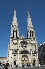 Église Saint-Jean-Baptiste-de-Belleville - Deutsch: Katholische Kirche Saint-Jean-Baptiste in Belleville im 19. Arrondissement in Paris (Île-de-France/Frankreich)