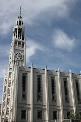 Eglise Saint-Jean-Bosco - Français:   Église Saint-Jean-Bosco de Paris (79, rue Alexandre-Dumas, 20ème arrondissement de Paris), croix du clocher par le ferronnier Raymond Subes