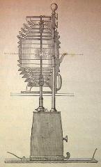 Phare de la Hève -  Ilustraciones de la obra:  El mundo físico: gravedad, gravitación, luz, calor, electricidad, magnetismo, etc. / A. Guillemin. - Barcelona Montaner y Simón, 1882