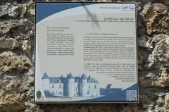 Château de Vaux - Deutsch: Château (Schloss) in Vaux-sur-Seine im Département Yvelines (Île-de-France/Frankreich), Erklärungstafel