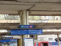 Gare des Chantiers - English: Versailles-Chantiers station - panels, Yvelines, France
