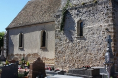 Eglise Saint-Martin - Français:   Bazoches-sur-Guyonne - Eglise Saint-Martin Mur Sud de la nef (nef du premier art roman en opus spicatum)