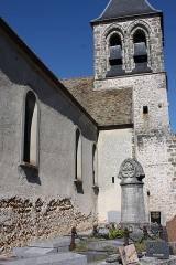 Eglise Saint-Martin - Français:   Bazoches-sur-Guyonne - Eglise Saint-Martin Le clocher vu de l\'Ouest