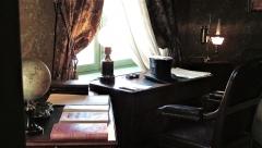 Maison Jules Verne - Deutsch: Schreibtisch von Jules Verne in seinem Stadthaus in Amiens (heute Museum)