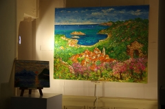 Musée Lombart -  Doullens (Somme, France) -   «Nuit européenne des Musées» au Musée Lombart.   Exposition (du 3 mai au 11 juin) d'oeuvres de Georges Flanet, dans la chapelle du Musée.   .