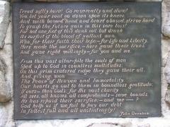Mémorial terre-neuvien et parc commémoratif - English: prayer plaque close up