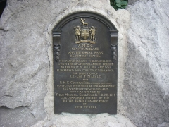 Mémorial terre-neuvien et parc commémoratif - English: memorial prayer plaque