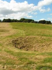 Mémorial terre-neuvien et parc commémoratif -  Impacts d'obus de la Première Guerre Mondiale