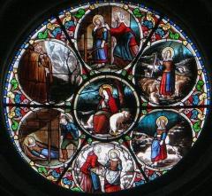 Eglise Saint-Sauveur - Français:   Castelsarrasin - Église Saint-Sauveur - Vitrail du transept sud