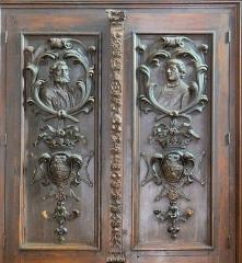 Eglise Saint-Sauveur - Français:   Castelsarrasin - Église Saint-Sauveur - Porte qui ouvrait vers l\'ancien prieuré: détail