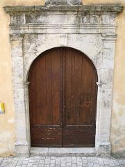 Eglise paroissiale Saint-Martin - English: Saint-Martin-de-Pallières - Var - France - Notre-Dame-de-l'Assomption (entrance door)