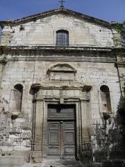 Ancienne chapelle des Pénitents noirs - Français:   Chapelle du Très-Saint-Crucifix à Carpentras (Vaucluse, France).