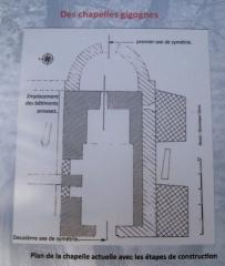 Chapelle Saint-Véran - Français:   Plan de la Chapelle Saint Véran de Goult, Vaucluse, France
