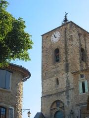 Eglise paroissiale Saint-Pierre -  Clocher église de Piolenc (Vaucluse)